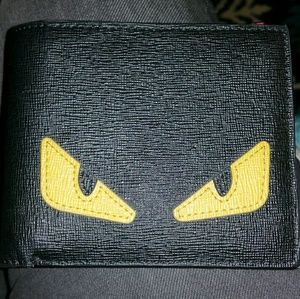 Authentic Mostro Fendi Leather Wallet